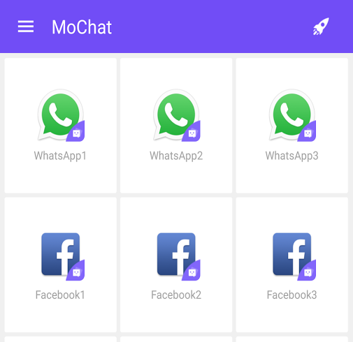 MoChat application androïd multi-compte