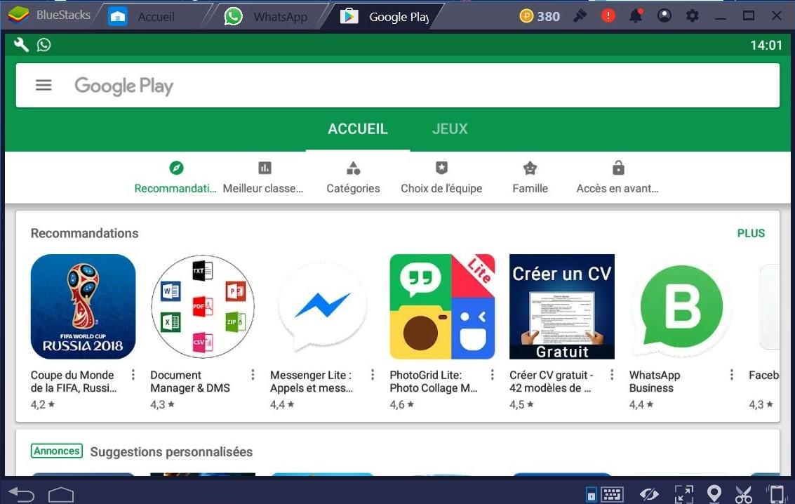 BlueStacks : application pour utiliser Whatsapp sans téléphone